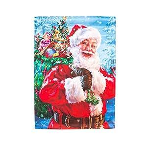 Santa's Magic Bag Christmas Garden Flag