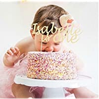Custom Name and Age Birthday Cake Topper Decoration. Cake Decoration. Any Age and Glitter Colour.Party. First Birthday.