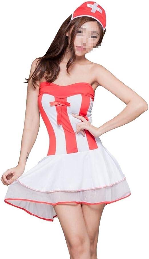 Fushenr - Disfraz Sexy de Enfermera para Mujer (Talla única), 1 ...