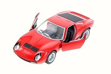 Buy 1971 Lamborghini Miura P400 Sv Red Kinsmart 5390w 1 34