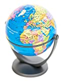 Mini Tilt & Swivel Political Globe of the World 4''