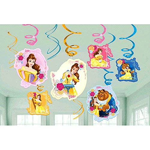 Beauty and the Beast 'Dream Big' Hanging Swirl Decorations (12ct)