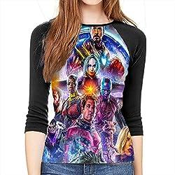 Women S Avengers Endgame Cast 3 4 Sleeve Raglan Baseball T Shirts