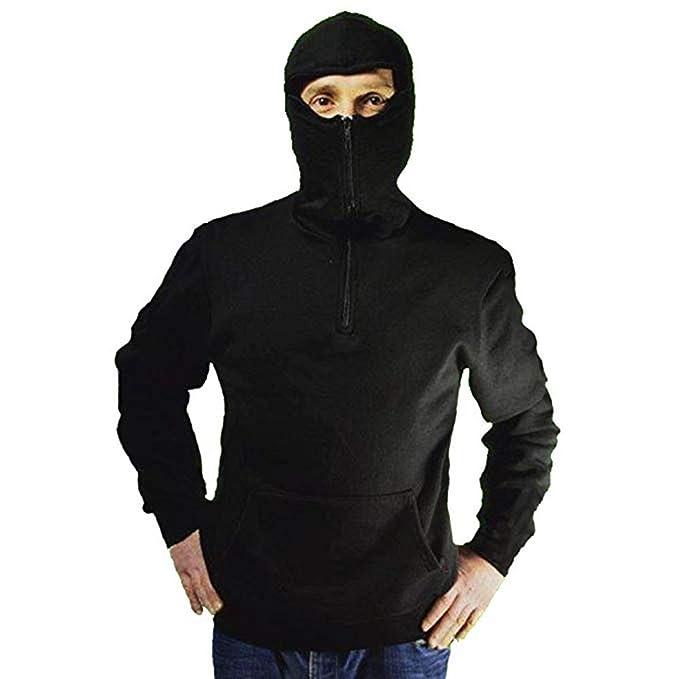 qualità superiore selezione speciale di outlet in vendita MACEDONIA Felpa ninja invernale con cappuccio nera con pile interno e tasche