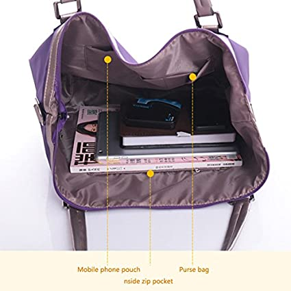 09100329d40f Amazon.com  Mily Oversize Waterproof Nylon Tote Bag