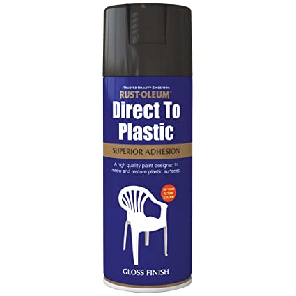 Rust-Oleum 400ml Direct to Plastic Spray Paint- Black