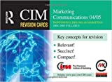 img - for CIM REVISION CARDS: MARKETING COMMUNICATIONS book / textbook / text book
