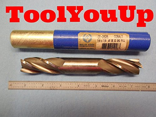 NEW COBALT 7/8 DIA 4 FLUTE DOUBLE END CENTER CUTTING END MILL USA MADE TOOLING ()