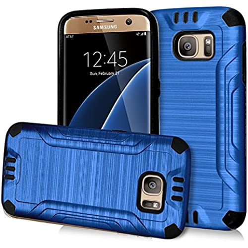 S7 Case, Phonelicious New Generation Chrome[Slim Fit] [Brushed Metal Texture] [Heavy Duty] Ultimate Drop Protection Rugged Cover for SAMSUNG Sales