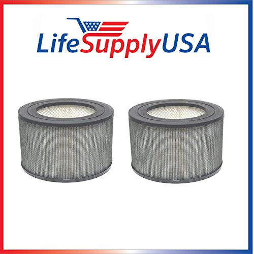 LifeSupplyUSA 2 Pack Replacement Filters for Honeywell 24000/24500 Air Cleaner fits 13350 13500 13501 13502 13503 13520 13523 13525 13526 13528 13350 50250 50251 52500 63500 83162 83259 83287 83332