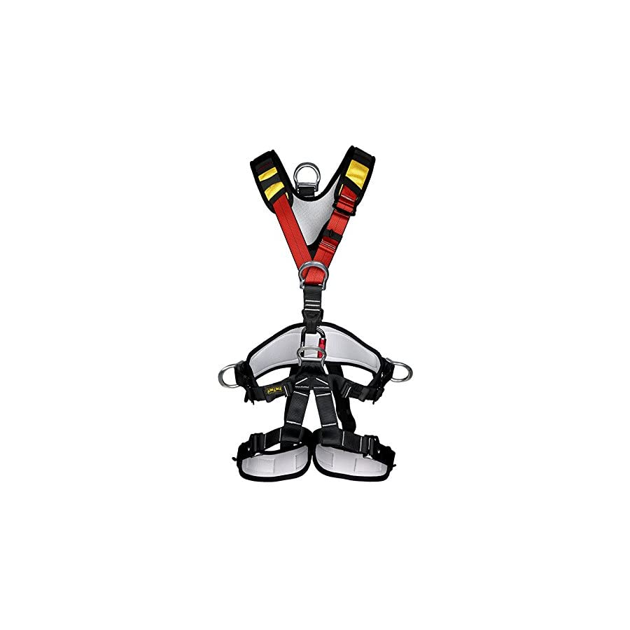 YaeCCC Climbing Harness Safe Seat Belt for Fire Rescue High Altitude School Assignment Caving Rock Climbing Rappelling Equipment Body Guard Protect