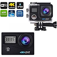 Aspiring 4k Sports Camera Allwinner Chipset 4K Dual Screen Outdoor Camcorder Wifi Supported 170 Degree Wide Lens White Color
