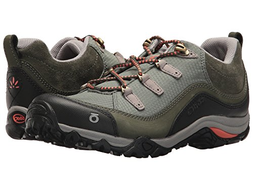 Oboz Women's Juniper Low Hiking Shoes Thyme/Coral Green 7 by Oboz
