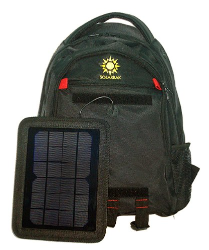 SolarGoPack solar powered backpack, 12k mAh L-ion Battery