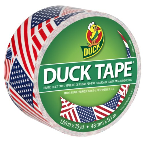 American Flag Stars Stripes Duck