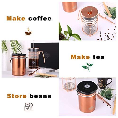 DeFancy Vintage Style Manual Coffee Grinder Hand Grinder /& French Press Coffee//tea Maker Set in Gift Package