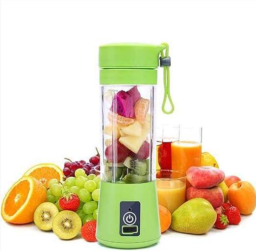 Licuadora de 380 ml portátil Juicer Cup botella de zumo recargable ...