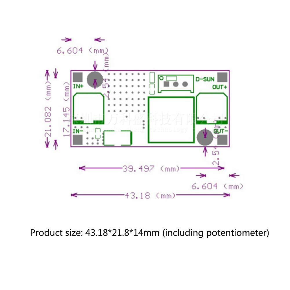 ChooseU LM2596 DC-DC Adjustable Buck Converter 3V-40V to 1.5V-30V 3A Voltage Regulator Step Down Module