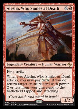 Magic: the Gathering - Alesha, Who Smiles at Death (090/185) - Fate Reforged - Foil from Magic: the Gathering
