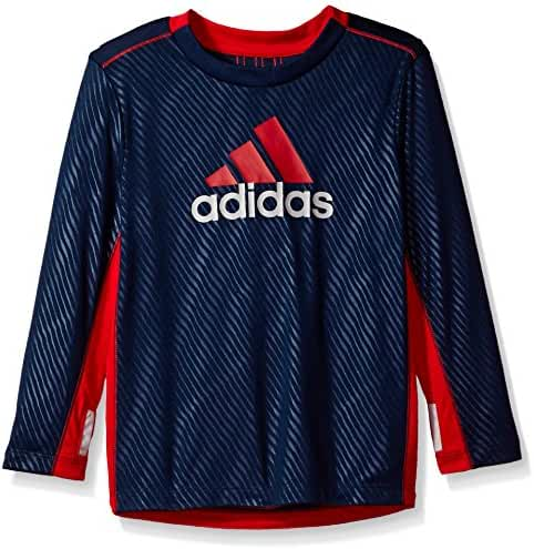 Adidas Boys' Performance Logo Long Sleeve Tee Shirt