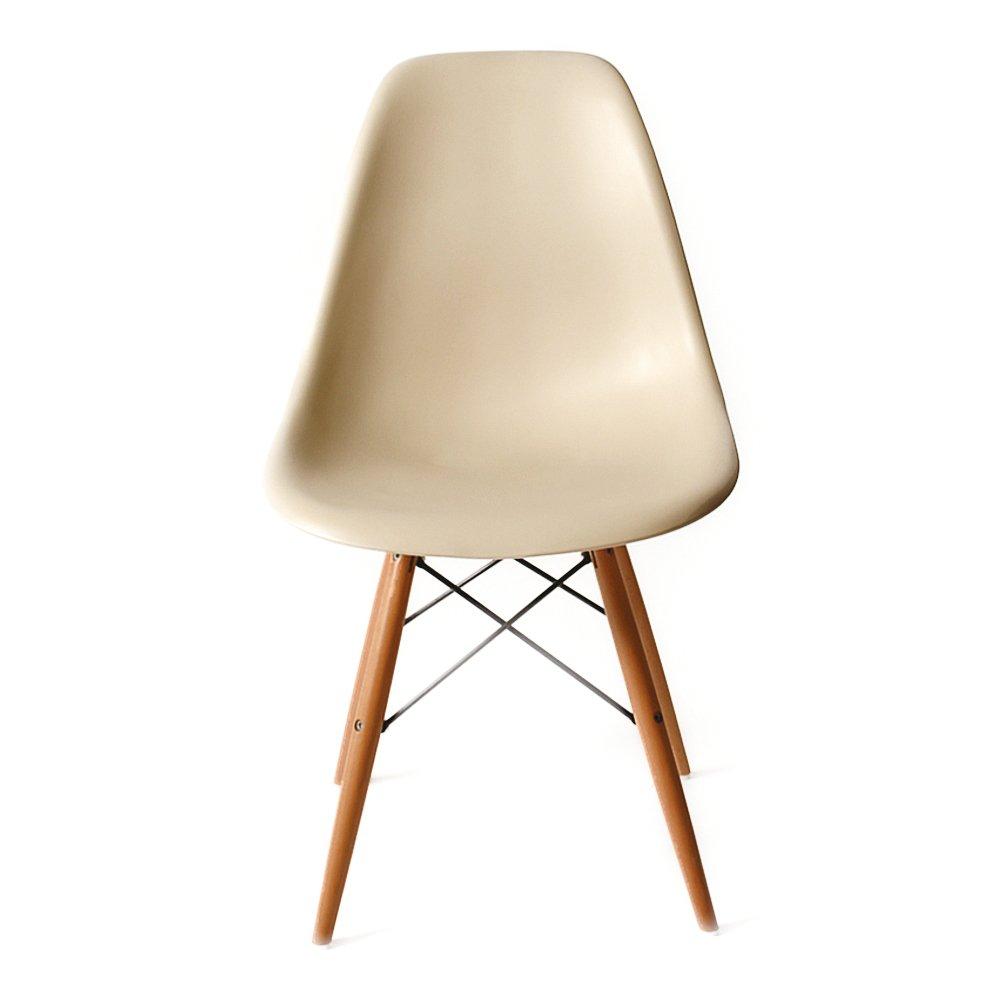 DSW アースベージュ サイドシェルチェア/Shell Side Chair イームズ PP(強化ポリプロピレン) B00DCS5HK0