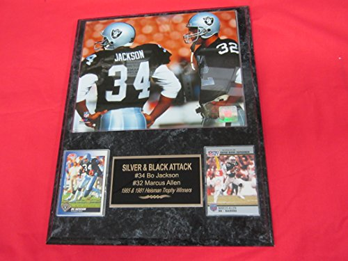 - Bo Jackson Marcus Allen Los Angeles Raiders 2 Card Collector Plaque #1 w/8x10 Photo