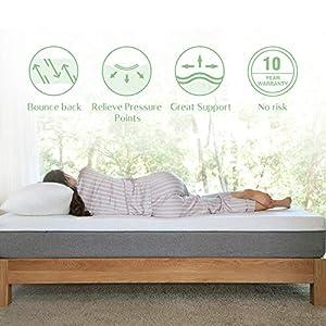 Queen Mattress, Novilla 10 inch Gel Memory Foam Queen Size Mattress for Cool Sleep & Pressure Relief, Medium Firm Bed…
