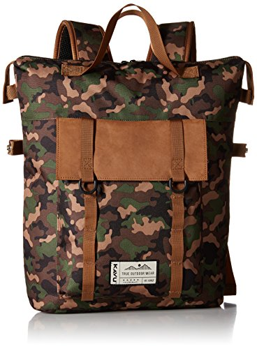 KAVU Rainier Rucksack Bag, Camo, One Size