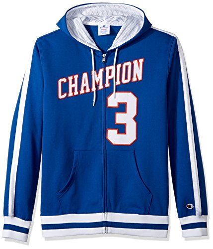 Champion LIFE Men's Full-Zip Basketball Hoodie (Limited Edition), Royal Blue, Large - Edge Mens Hooded Zip Sweatshirt