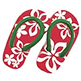 HAWAIIAN PLUMERIA FLIP FLOPS ORNAMENT