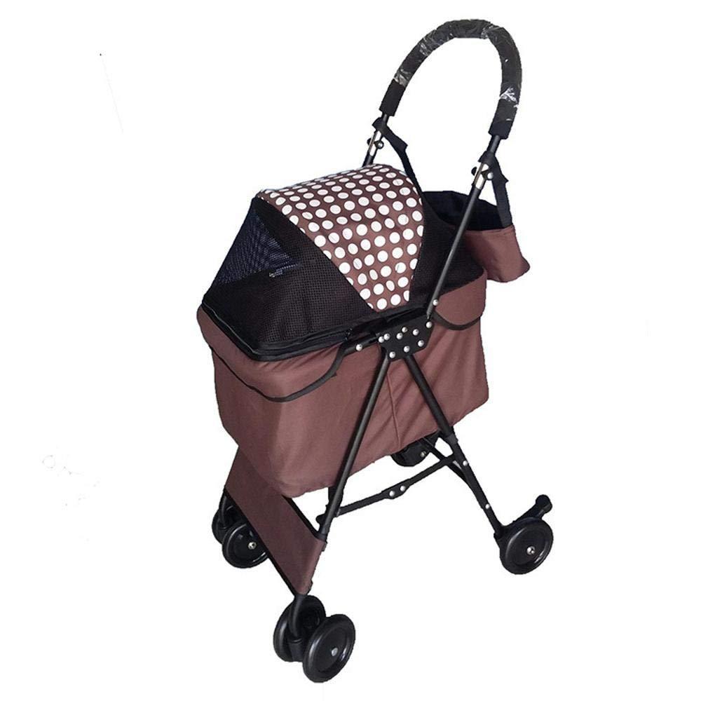 A Lozse Pet Stroller Dog Pushchair Fourwheel portable small and medium sized pet folding car