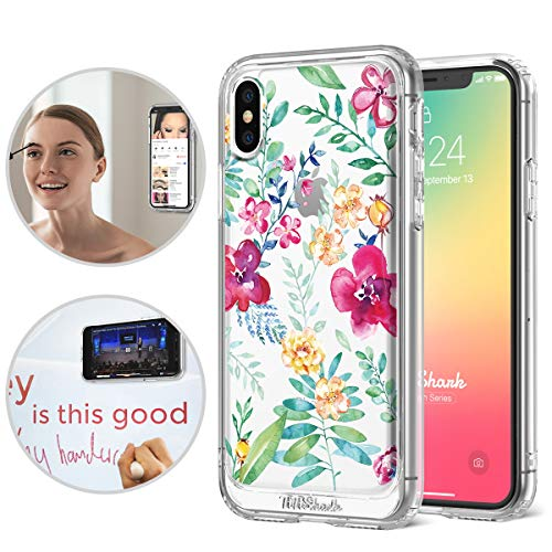 iPhone X/Xs Case,TiTiShark Starfish Series Anti Gravity Shockproof Protective Case [Hands-Free Case] with Transparent Interior Printed for Apple iPhone X/Xs - Secret Garden