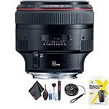 Canon EF 85mm f/1.2L II USM Lens for Canon EF Mount + Accessories (International Model)