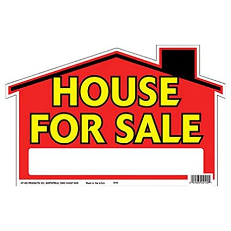 HY-KO Products 22120 House for Sale DIE Cut Plastic Sign, 8.5