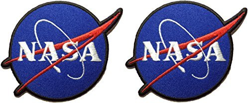 [Set 2 Nasa Sign Space Blue Shuttle Vector Discovery Agency Houston Cape Canaveral USA Embroidered Appliques Hat Cap Polo Backpack Clothing Jacket Shirt DIY Sewing Iron On Costume Badge Logo] (Costumes For Adults Diy)