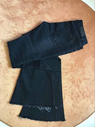 Jeans Sólido Slim Fit Stretch Con De Bolsillos Schwarz Moda Color Ropa Casuales Las Acampanados Vaqueros Cremallera Delanteros Pantalones Mujeres 1g788q