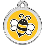 Red Dingo Personalized Bumble Bee Yellow Pet ID Dog Tag (Large)