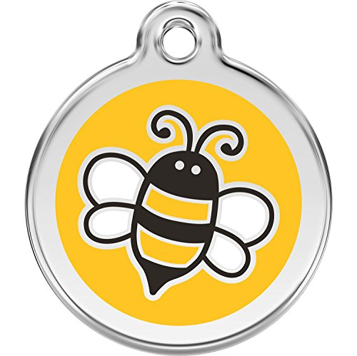 Red Dingo Personalized Bumble Bee Yellow Pet ID Dog Tag (Small)]()