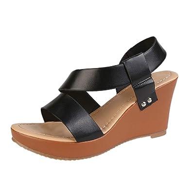 f244c0dc43e Amazon.com   Hot Womens Comfortable Open Toe Adjustable Ankle Strap ...