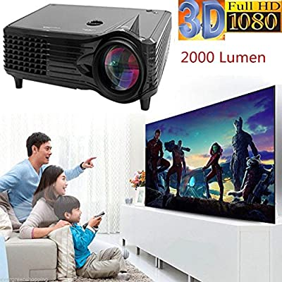 leshp proyector 2000 lumens LED Multimedia cine en casa Mini ...