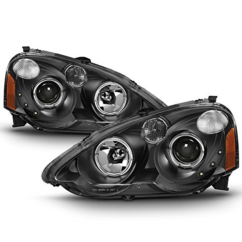 Arsx02 Led - ACANII - For 2002-2004 Acura RSX Integra DC5 Halo Projector LED Headlights Headlamps 02 03 04 Driver + Passenger Side