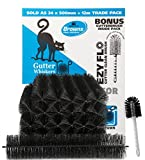 Gutter Whiskers Gutter Guard 39-foot Pack With Free Brush, Contains 19.7 x 4.1in, 24 Pack