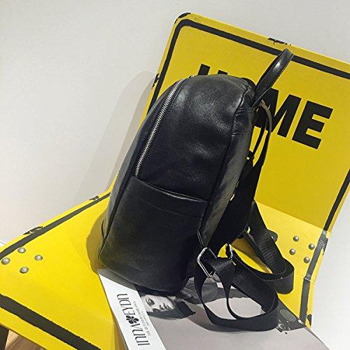 Backpack for Women - Bageek Black Backpack PU Leather Backpack Casual Backpack by Bageek (Image #3)