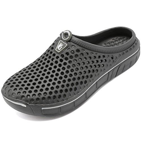 welltree Unisex Women's Men's Garden Clog Shoes Quick Drying Slippers Sandals 10 US Men / 12 US Women Grey-2/44