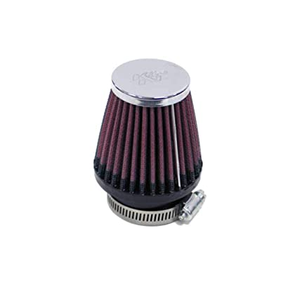 K&N Universal Clamp-On Air Filter: High Performance, Premium, Replacement Engine Filter: Flange Diameter: 1.8125 In, Filter Height: 3 In, Flange Length: 0.625 In, Shape: Round Tapered, RC-2320: Automotive