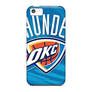 Iphone 5c GIb10803RUcz Provide Private Custom Fashion Oklahoma City Thunder Skin Excellent Hard Phone Cases -InesWeldon