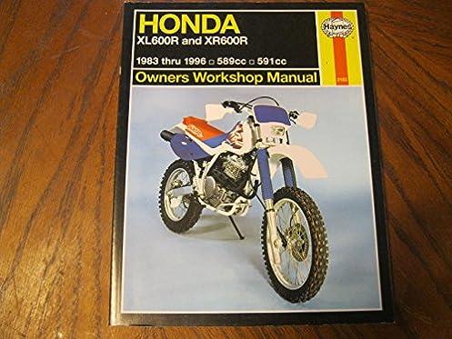honda xl600r and xr600r 1983 1996 owners workshop manual haynes rh amazon com 1990 Honda XR600R 1985 Honda XR600R