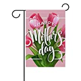 U LIFE Happy Mothers Day Floral Flowers Garden Yard Flag Banner for Outside House Flower Pot Double Side Print 40 x 28 Inch For Sale