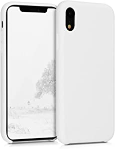 kwmobile TPU Silicone Case Compatible with Apple iPhone XR - Soft Flexible Rubber Protective Cover - White