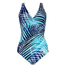 Swimsuit 1 Piece Miraclesuit Womens Oceanus Palm Reader Bleu